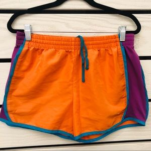 Danskin Orange & Blue Running Gym Workout Shorts